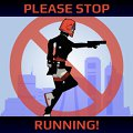 Please Stop Running! A running & jumping game